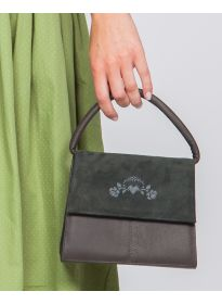 Ledertasche Desiree grau