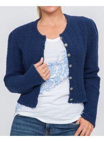 Weste Donatella blau