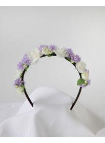 Haarreifen Rosen-Flieder lila-champagner
