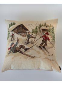 Gobelin-Polsterbezug Ski ca. 46x46