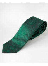 Krawatte Blumenranke dunkelgrün