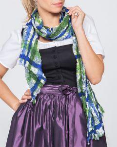 Schal blau/grün