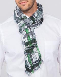 Herren Schal grau/grün