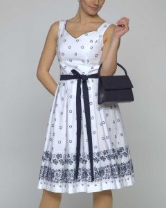 Kleid Bella weiß blau